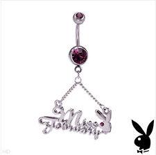 PLAYBOY Miss February Navel Belly Body Ring Piercing Gem Valentine's Teen Gift