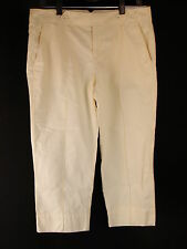 ANN TAYLOR LOFT Marisa Modern Cropped Cotton Pants 6 Light Yellow NWT