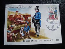 FRANCE - carte 1er jour 14/3/1970 (journee du timbre) (cy92) french