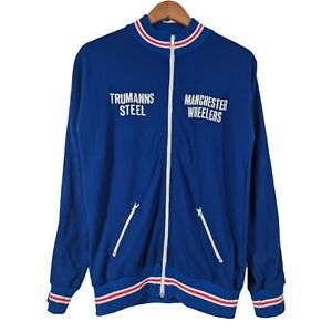 Vintage Manchester Wheelers Trumans Steel Long Sleeve Cycling Jersey - Medium