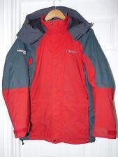 Berghaus Red Hooded Coat Size UK 10 Gore Tex Women's Jacket Waterproof Raincoat