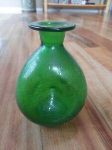 Neat Green Glass Bottle, Vase, Home Decor