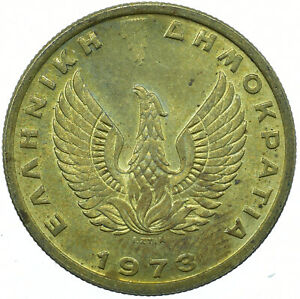 Coin / Greece / 1 Drachma 1973 BEAUTIFUL COLLECTIBLE     #WT30395