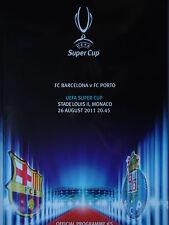 Programa UEFA Super Cup 2011 fc barcelona-fc porto