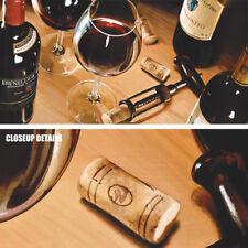 "40W""x20H"" UNA BELLA SERATA by STEFANO FERRERI -RED WINE GLASS BOTTLE CORK CANVAS"