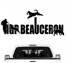 Beauceron IGP Schrift Auto Aufkleber Beauce Hundesport Autoaufkleber K9 Hundeanh