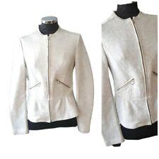 Zara womens Sweatshirt size Large Grey Ruffle hem comfortable winter VGC Autumn