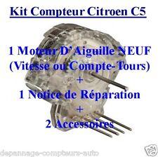 VRAI KIT MICRO MOTEUR COMPLET POUR COMPTEUR DE CITROEN C5 + ACCESSOIRES !