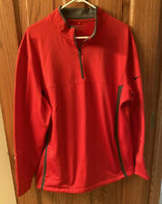 Nike Size Xl Red And Gray 1/4 Zip Golf Jacket