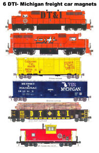 Detroit Toledo & Ironton Freight Train 6 magnets Andy Fletcher