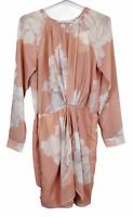 BNWT Sweet Pot Peach Semi See-Through Long Sleeve Dress Size 10