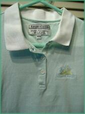IZOD CLUB Sleeveless Knit Top (M) Green & White Check Stripe Starr Pass GC logo