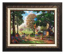 Thomas Kinkade Winnie The Pooh II Canvas Classic (Aged Bronze Frame)
