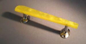 1950s/ Unused WILBEC Yellow Pearl Lucite Bar 175 mm Door Handle x 1. Dead Stock