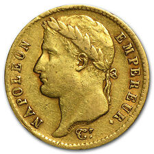 1807-1813 France Gold 20 Francs Napoleon I Avg Circ - SKU #33965