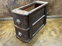 Antique Vintage Singer Treadle Sewing Machine 2 Oak Drawers & Frame
