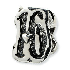 Sweet 16 Bead .925 Sterling Silver Antique Finish Reflection Beads