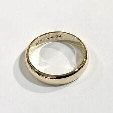 14k Yellow Gold half-round Wedding Band 6mm wide Size 7 weighs 4.2 grams Wed Lok