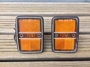 VW Golf Rabbit US front side markers Mk1 OEM 175945119 orange light Westmoreland