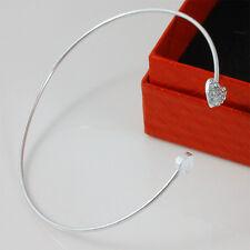 Fashion Women New Style Gold Rhinestone Love Heart Bangle Cuff Bracelet Jewelry