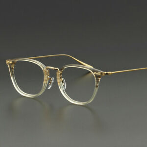 Pure Titanium & Acetate man retro Eyeglass Frames Optical RX Glasses 49-21-145