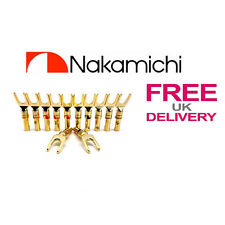 12x Quality Nakamichi Spade Fork connectors 24k Gold plated connector **UK**