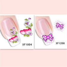 2Sheet/Lot Popular Exquisite Water Transfer DIY Nail Sticker XF1004+1208