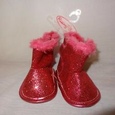 Boots Pink Glitter Boots Shoes Sparkle Size 3 - 6 Months Baby Girls Rising Star