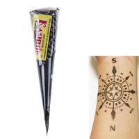 Women Men Tattoo Stencil Henna Paste Cone Body Painting Black Temporary Makeup H