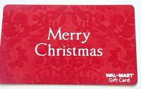 Walmart Gift Card - Christmas FELT TEXTURE - Older / No Value - I Combine Ship
