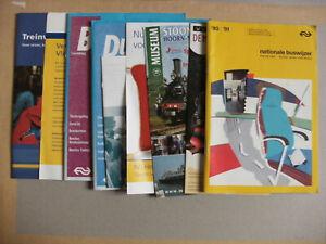 9 Netherlands Bus & Railway Train Timetables & Leaflets 1990-2007