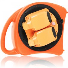 More details for 20m 13a outdoor weatherproof extension cable lead reel garden 2 socket 240v ip54