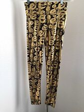 Womens Disco Leggings Stretch Shiny Metallic Wet Look Pants With e's Size S