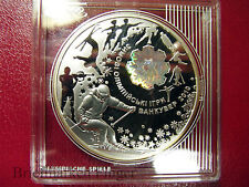 2010 UKRAINE Large Silver Hologram Proof 10 Hr.Winter Olympics