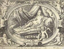 JAN SAENREDAM - VENUS MIT AMOR (NACH GOLTZIUS) - Kupferstich 1595-1600