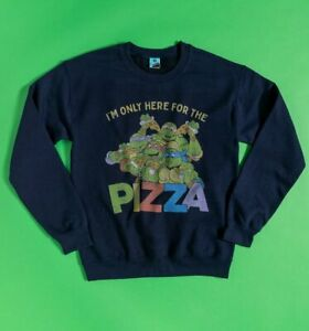 Official Teenage Mutant Ninja Turtles Only Here For The Pizza Navy Sweater
