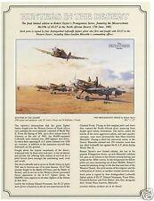 Robert Taylor Hunters in the Desert Aviation Art FLYER