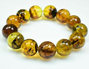 Dominican Amber Bracelet Beads Natural Stone Authentic 18.58 mm (42.9 g)a1449