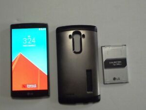 LG H810 G4, 32GB, UNLOCKED, AT&T, MINT WITH CASE & SPARE BATTERY, NO SIM CARD