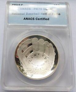2014-P National Baseball Hall of Fame Silver $1 commemorative - ANACS PR70 DCAM