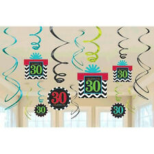 30th Celebration Value Pack Swirl Decorations~30th Birthday Party Favor Supplies