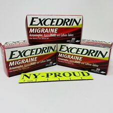 3 PK Excedrin Migraine Relief 900 Caplets Total Pain  Reliever Save$ - EXP 03/22