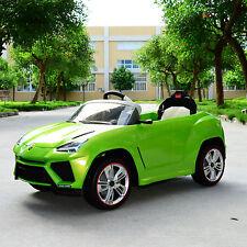 12V Lamborghini Urus Electric Kids Ride On Toy Car Battery Power RC Remote Green
