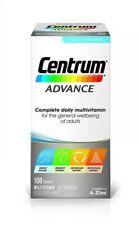 3x Centrum Advance Multivitamin Multi Mineral Food Supplement 100 Tablets
