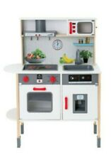 Kids wooden play kitchen with accessories