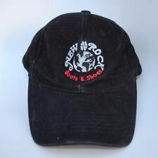 NEW ROCK Boots & Shoes Black Baseball Cap Hat Adjustable Strapback