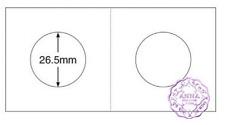 "PCCB 26.5mm Cardboard Staple 2""x2"" Coin Holders X 50 Pcs"