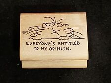 Awesome 1985 Sandra Boynton Everyones Entitled to My Opinion rubber Stamp