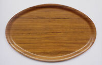 Greece OLYMPIC AIRWAYS Vintage Wooden Serving Tray by Nybro Sweden