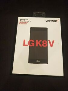 Verizon LGK8V Prepaid Smart Phone No Annual Contract Black Onyx Cell Phone NEW